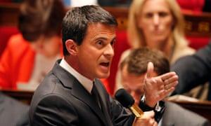 The Socialist prime minister Manuel Valls
