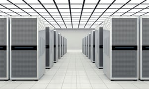 Computer towers in a data centre