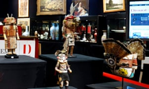 Objects on display at the Drouot auction house in Paris
