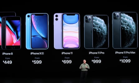 Apple's senior vice president of worldwide marketing Phil Schiller talks about the new iPhone 11 Pro during an Apple special event on 10 September 2019 in Cupertino, California.