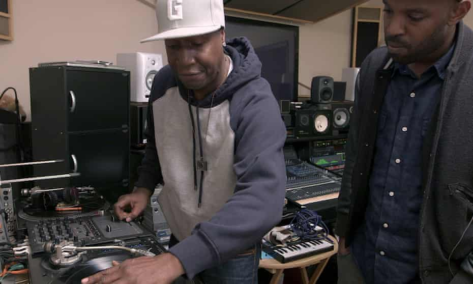 Grandmaster Flash takes to the decks in Hip-Hop Evolution.