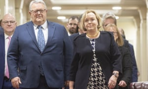 New Zealand National party leader Judith Collins appears with new deputy leader Gerry Brownlee (left) after her election. The veteran operator offers the safety the base will be looking for.
