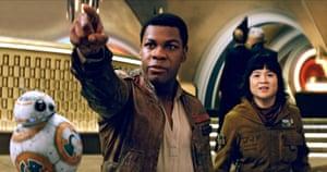 Universally popular ... John Boyega and Kelly Marie Tran in Star Wars: The Last Jedi.