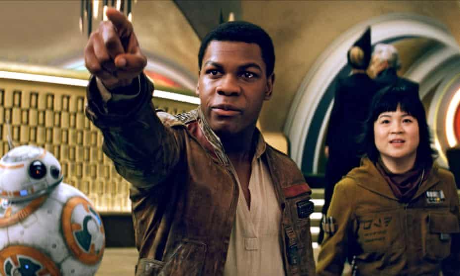 John Boyega and Kelly Marie Tran in Star Wars: The Last Jedi.
