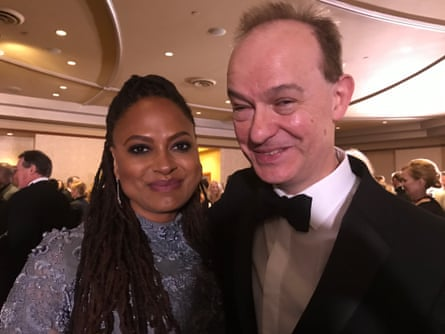 Peter's selfie with Ava DuVernay.