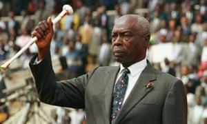 Former Kenyan president Daniel arap Moi who has died aged 95.
