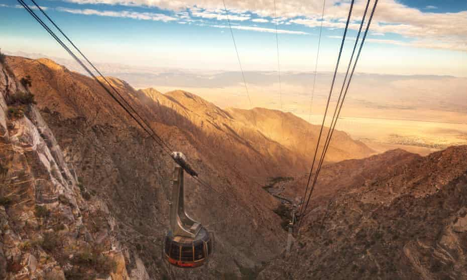 View of Coachella Valley from Palm Springs Aerial Tramway