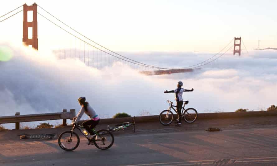 Fog over the Golden Gate Bridge in San Francisco.