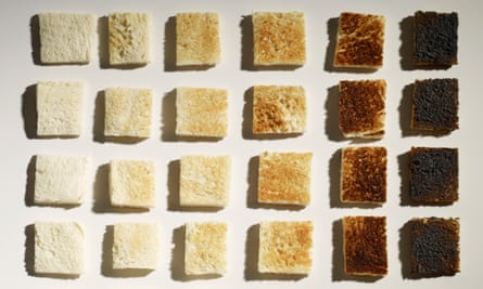The UK Food Standards Agency has launched the Go for Gold campaign to urge the public to avoid singeing their toast or leaving roast potatoes to char in the oven.