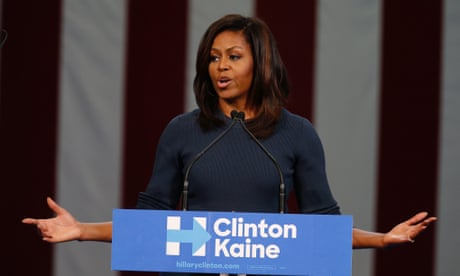 As political discourse descends into rage, thank god for Michelle Obama