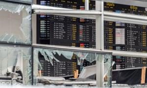 Zaventem airport after terrorist attack