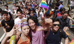 The Rainbow Pride rally in Tokyo in 2017