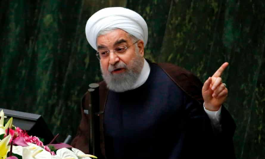 Hassan Rouhani addresses parliament in Tehran last month. He introduced his healthcare plan in his first term.