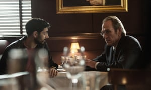 Riz Ahmed with Tommy Lee Jones in Jason Bourne.