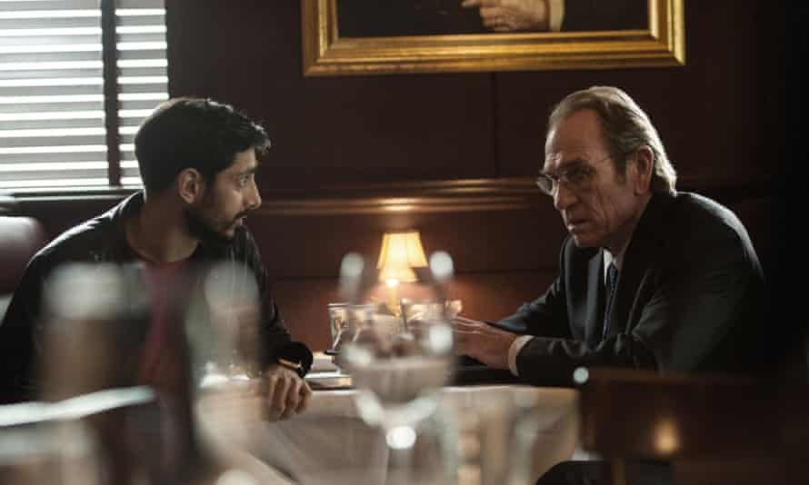 Riz Ahmed with Tommy Lee Jones in Jason Bourne.