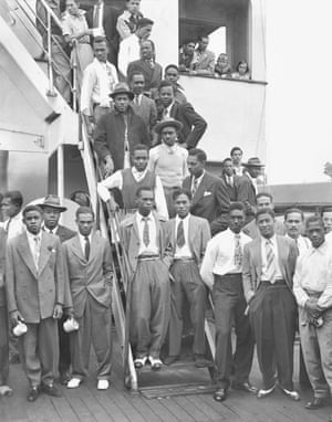 West Indian passengers on board the Empire Windrush, 1948.