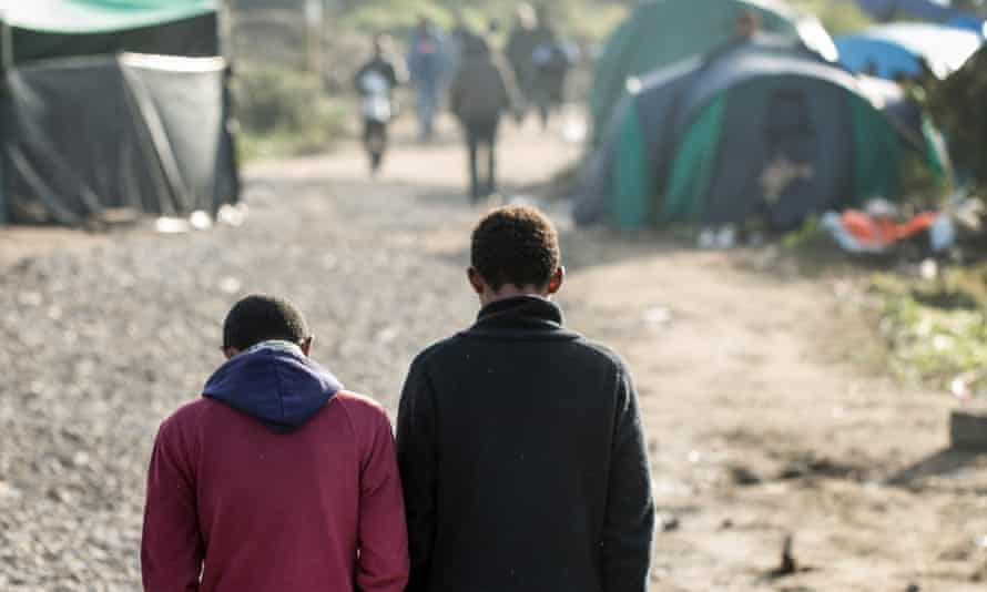 Eritrean refugees Ahamed (left) and Aber