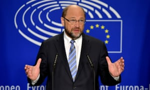 Martin Schulz, the president of the European parliament