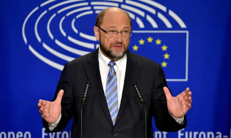 Martin Schulz, the president of the European parliament