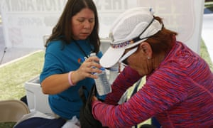 A Salvation Army hydration station in Phoenix, Arizona.