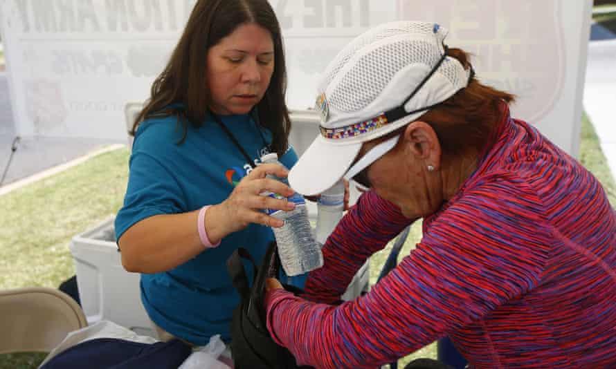 A Salvation Army hydration station in Phoenix, Arizona.