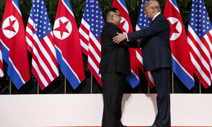 Kim Jong-un and Donald Trump meet in Singapore