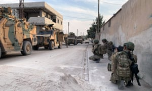 Turkish forces in the northern Syrian town of Tel Abyad