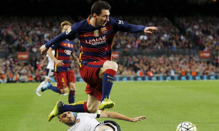 Barcelona striker Lionel Messi.