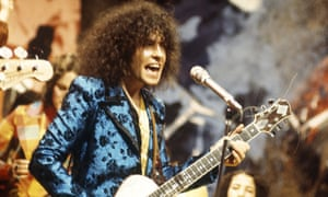 Get your glitter on … Marc Bolan and T Rex on Top of the Pops, 1972.
