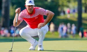 Gary Woodland matched the lowest aggregate in a major tournament at Bellerive on Friday, equalling Nick Faldo's 130 at Muirfield in 1992.