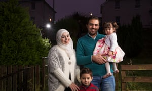 Muhannad Helmi, his wife Raghad al Barkawi, their son Naeem, four, and daughter Qamar, 18 months.
