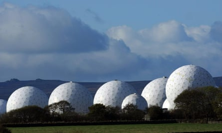 The radar domes of RAF Menwith Hill in Yorkshire