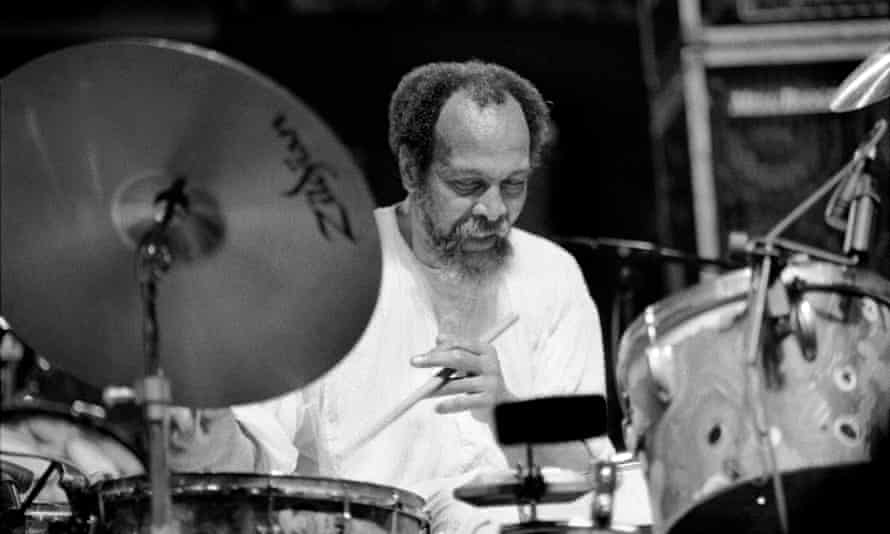 Milford Graves performing with the New York Art Quartet at the South Street Seaport Atrium, New York, 1999.