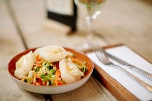 The Mexico Inn's tempura prawn thai salad.