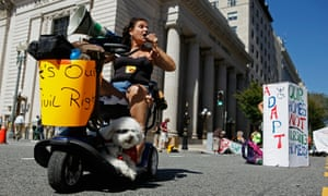 Roxan Perez joins more than 200 protestors in non-violent direct action in Washington.