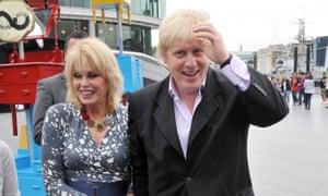 Joanna Lumley with Boris Johnson.