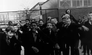 Pupils at Rutherford Secondary School in London, 1969