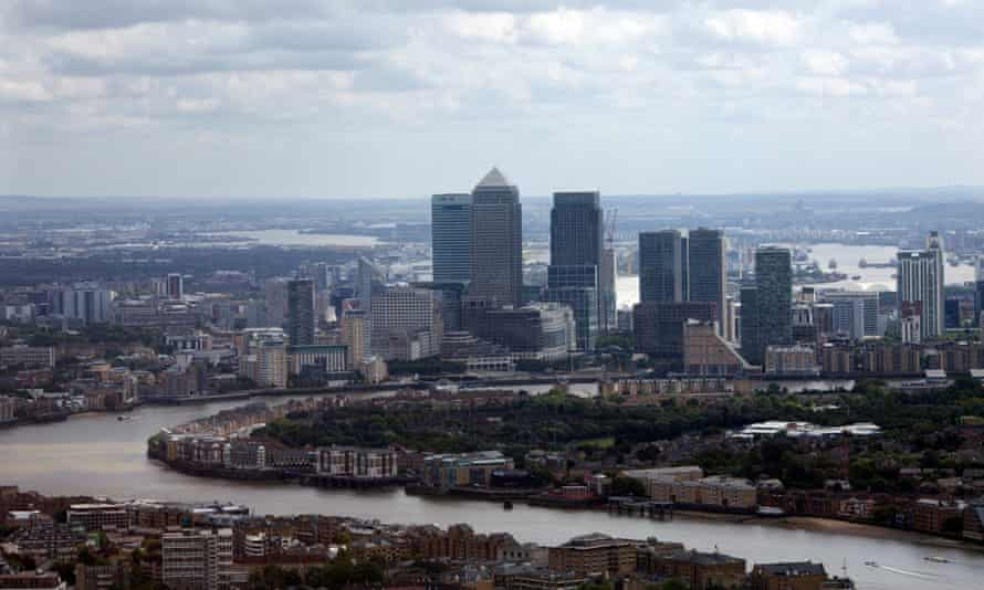 The financial district of London as it looks today