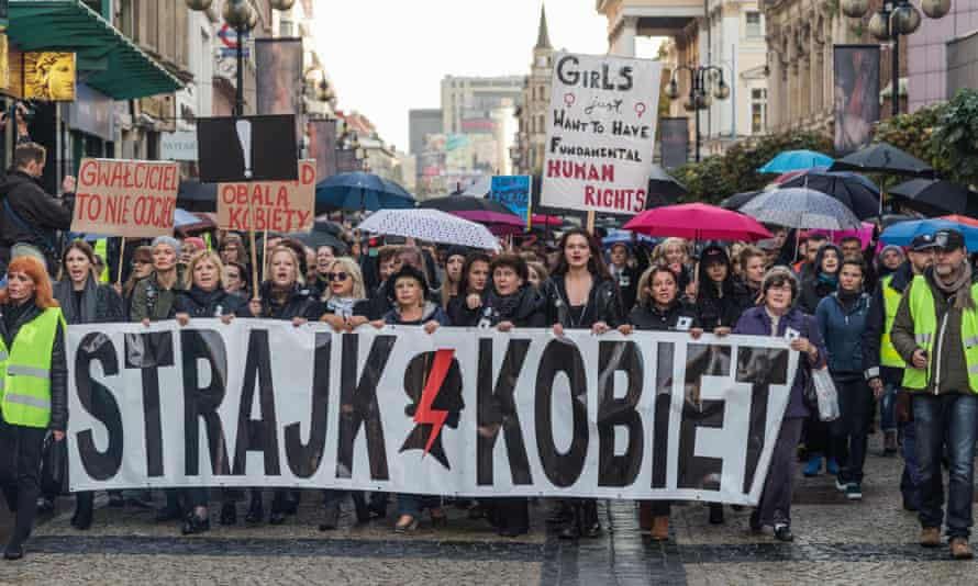 Women protest in Warsaw this week.