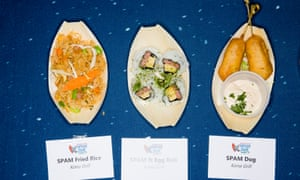 Spam-based dishes on display at Spam Jam 2017.