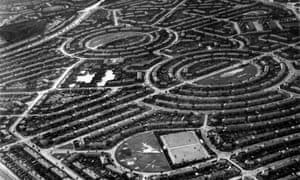 Queensbury, a north London suburban housing estates, seen from the air, 1935.