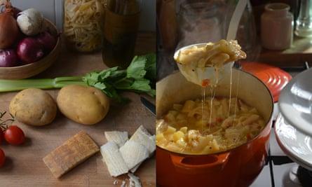 Pasta con patate e provola