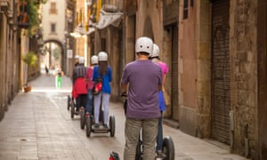 Parts of Barcelona are now no-go areas for Segway tours.