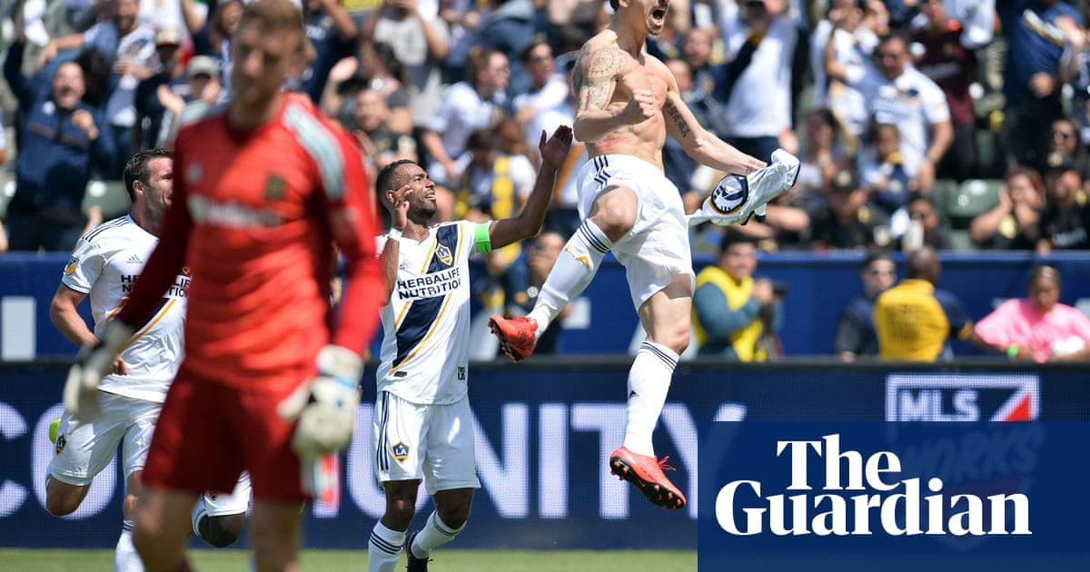 7767edab457 Zlatan Ibrahimovic's low-key MLS debut: a wondergoal then the winner for LA  Galaxy | Football | The Guardian