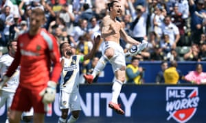 3b05cc3aa0b LA Galaxy 4-3 LAFC  Zlatan Ibrahimovic scores wondergoal on MLS debut – as  it happened