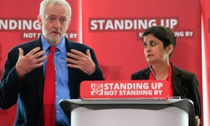 Shami Chakrabarti with Jeremy Corbyn