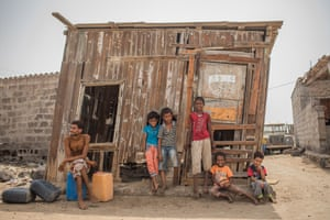 Children in Ras Imran village on the outskirts of Aden