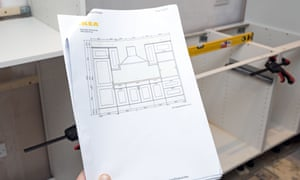 Got the Ikea kitchen plan … but where's the missing parts?