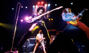 The classic Lizzy line-up, with Phil Lynott on bass and guitarists Scott Gorham, right, and Brian Robertson.