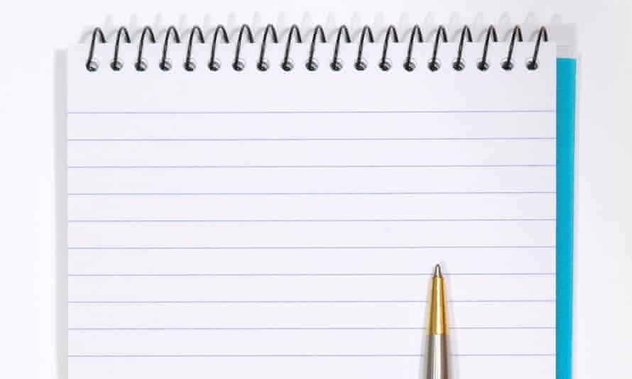 Note Pad With White Pages and Pen. Isolated on WhiteAMGFCK Note Pad With White Pages and Pen. Isolated on White